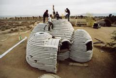 Sandbag Shelter Prototypes, various locations; Aga Khan Award 2004