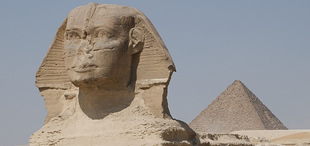 The Great Sphinx and the Pyramid of Khafre, Giza Plateau, Egypt; ©Future15pic