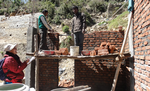 Neelakshi Joshi (BP 2009), Fieldwork at construction sites, Himalayas, India (undated)