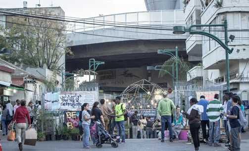 Robert Ungar (2010) and ONYA collective, a garden in a formerly abandoned entrance
